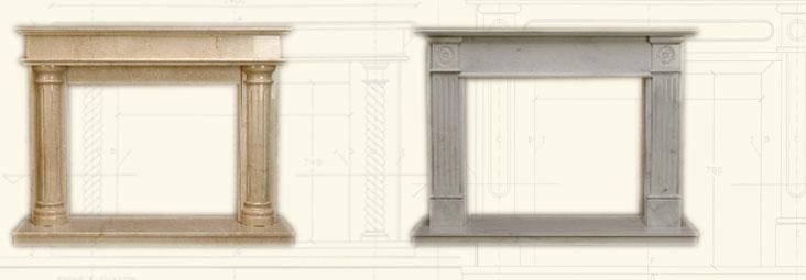 kaminumrandungen offener kamine aus edelstem marmor. Black Bedroom Furniture Sets. Home Design Ideas
